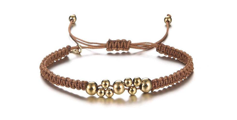 Brown beads armband