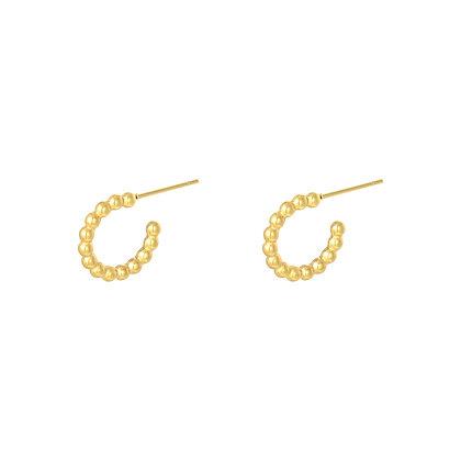 Dotted gold oorbellen