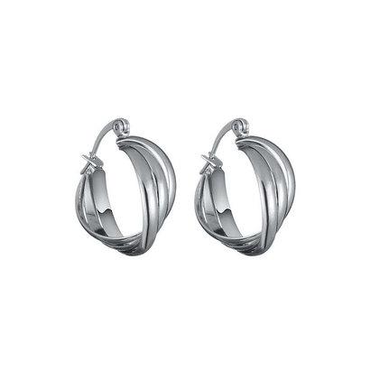 Warp oorbellen zilver