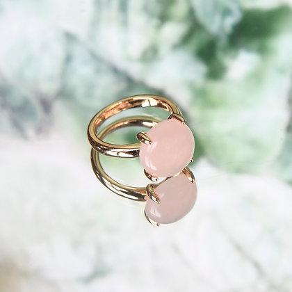 Pink stone ring
