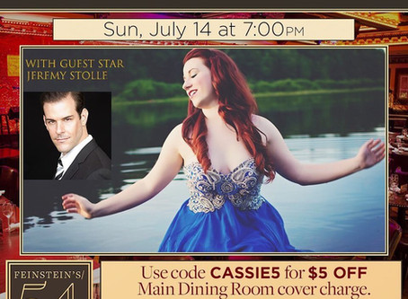 """Cassie Blanchette makes her Solo Debut in """"I Dreamed a Dream"""" at Feinstein's 54 below!"""