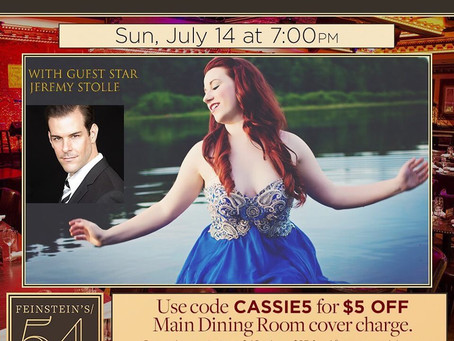 "Cassie Blanchette makes her Solo Debut in ""I Dreamed a Dream"" at Feinstein's 54 below!"
