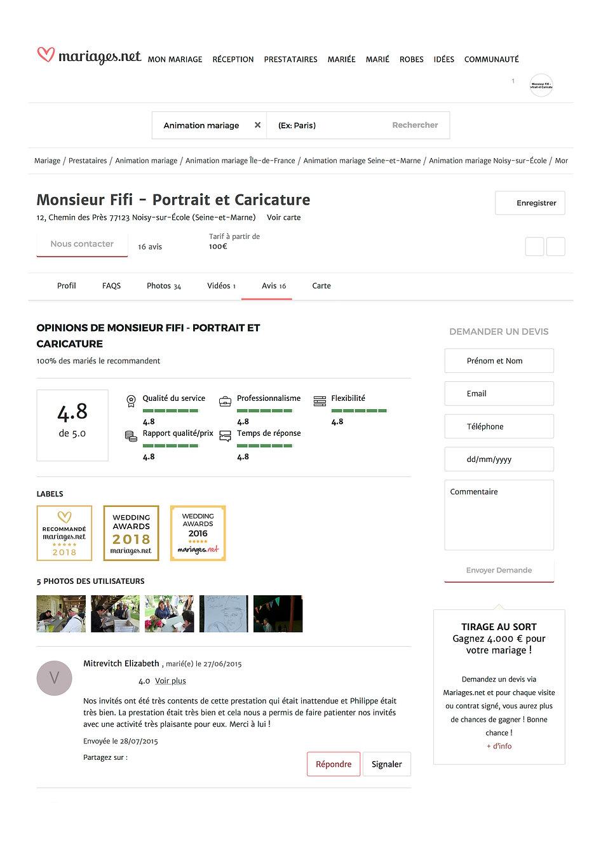 Opinions de Monsieur Fifi 2A- Portrait e