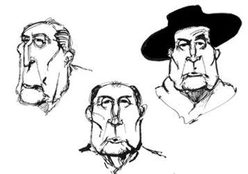 Caricature  de François Mitterand par Monsieur Fifi