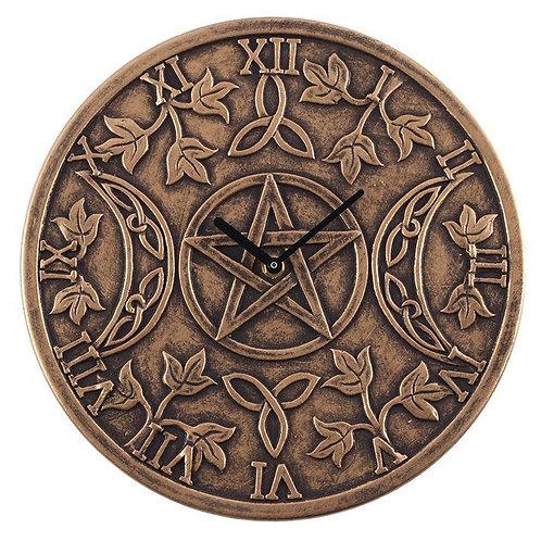 Terracotta Triple Moon Clock