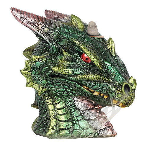 Large Green Dragon Head Backflow Incense Burner