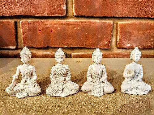 4 set of mini Buddha status