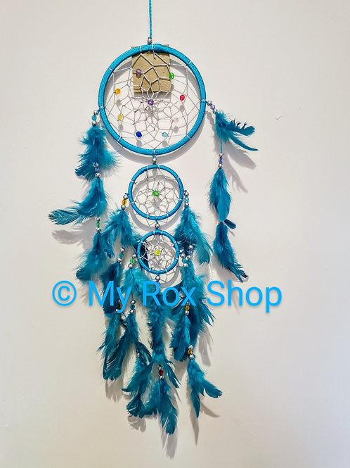 Triple circle Turquoise Dream Catcher