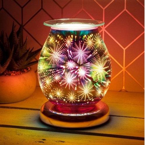 Rose Gold 3D Aura Wax warmer touch lamp