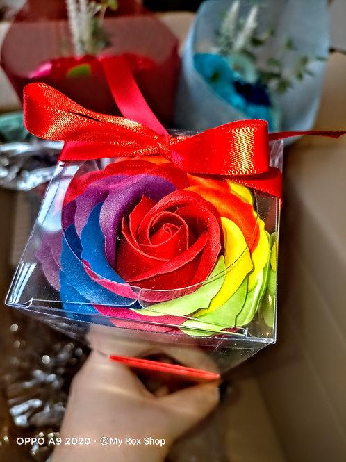 Single Rainbow Soap Rose