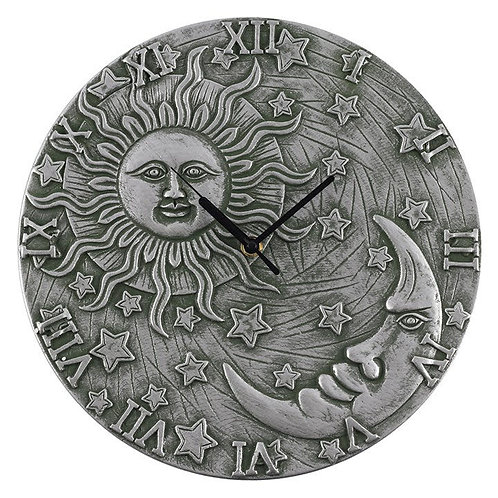Silvert Effect Terracotta Sun & Moon Clock