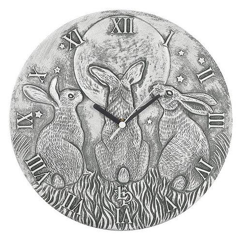Silver Effect Terracotta Moon Shadows Clock