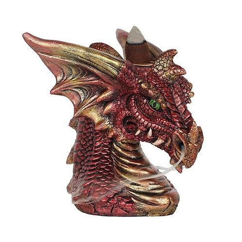 Small Red Dragon Backflow Incense Burner