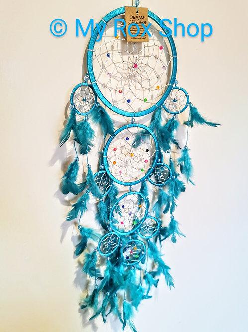 16cm Turquoise 4 circle dream Catcher