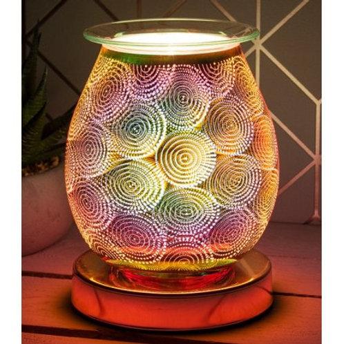 Dots Rose Gold 3D Aura Wax Warmer Touch Lamp