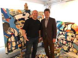 Minister Sven Gatz en Pim Smit