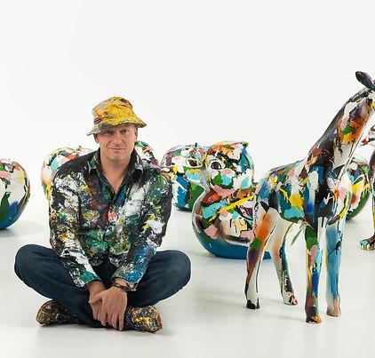 Kunstenaar Pim Smit and his Art Animals