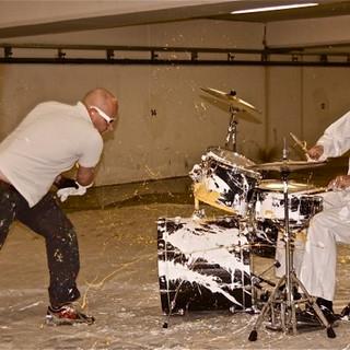 With Cesar Zuiderwijk, Art Drumming