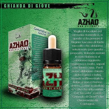 Azhad's Elixirs Aromi Non Filtrati Aromatizzati GHIANDA DI GIOVE  10 Ml.