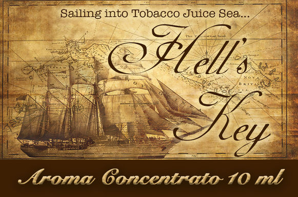 Blendfeel Hell's Key – Aroma di Tabacco concentrato 10 ml.