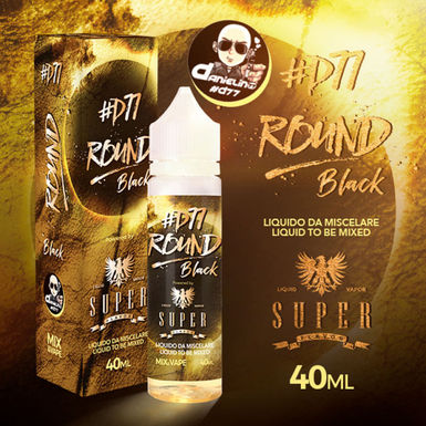Super Flavor Round #D77 Black  Mix & Vape 40 Ml.