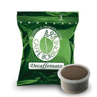 50 Capsule miscela VERDE DEK Caffè Borbone MACCHINE  Lavazza ®* Espresso Point