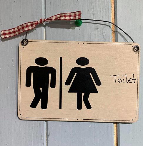 Toilet sign Plaques