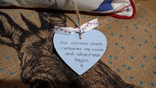 Our Holiday Home Wooden Heart
