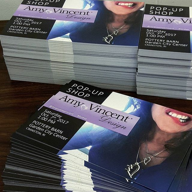 Pop-Up Shop Flyers Ready ✔ for _forevsamyvincent - Oct 7th, 1pm. Save the Date. #forevs _potterybarn