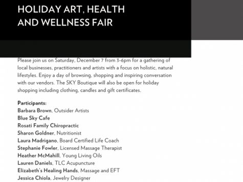 Holiday Art, Health and Wellness Fair in Fanwood