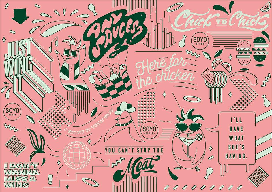 Pattern design for Soyo Diner