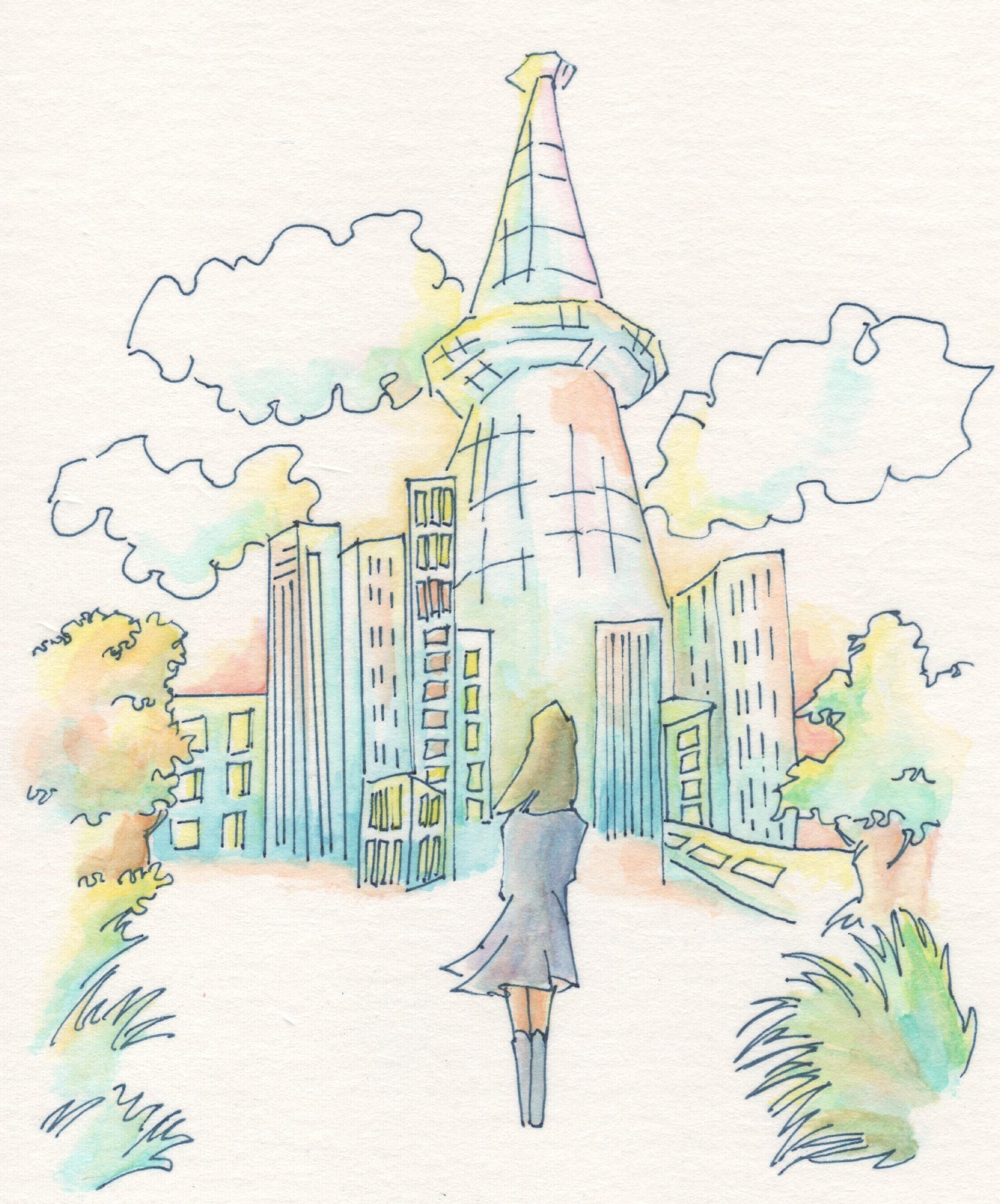 タワーと少女