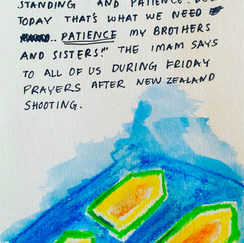 comic about New Zealand Shooting