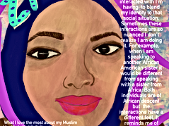 A personal Project for Inktober where I interviewed and Illustrated  various American Muslim women and their expereinces as an American Muslim women. For more detail look at the Link below