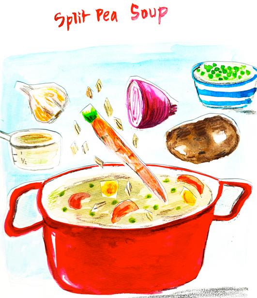 Illustration of Split Pea Soup