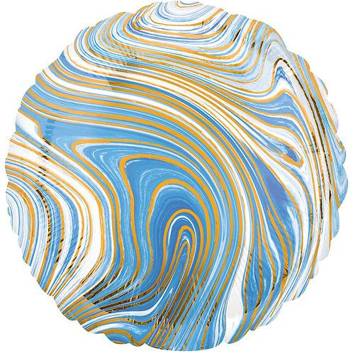 """18"""" Marblez Blue Round -  Anagram Balloon - Helium Filled"""