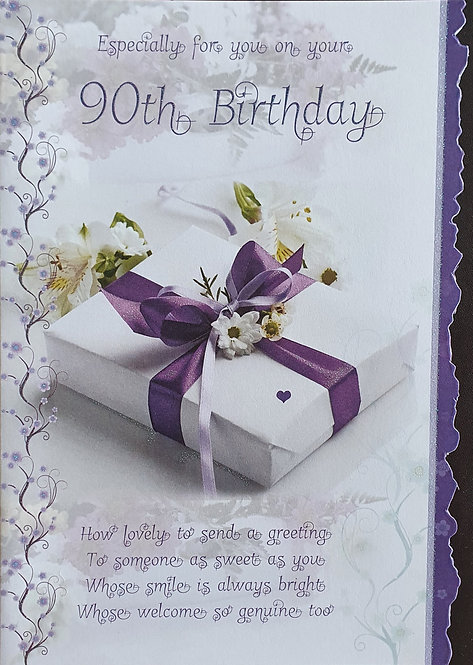90th Female Birthday Card