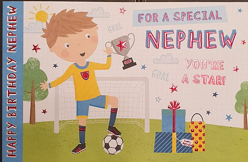 Juvenile Nephew Birthday Greeting Card