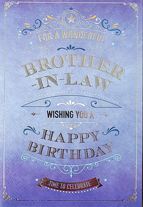Brother-in-Law Birthday Greeting Card