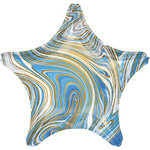 """18"""" Marblez Blue Star -  Anagram Balloon - Helium Filled"""