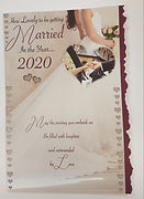 wedding card married in the-year 2020