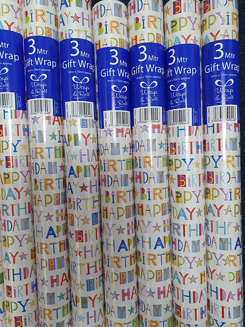 3m Giftwrap - Happy Birthday Text