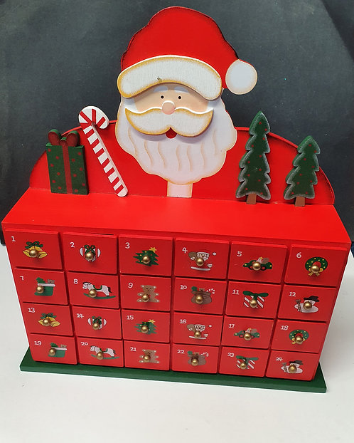 Santa Wooden Advent Calendar