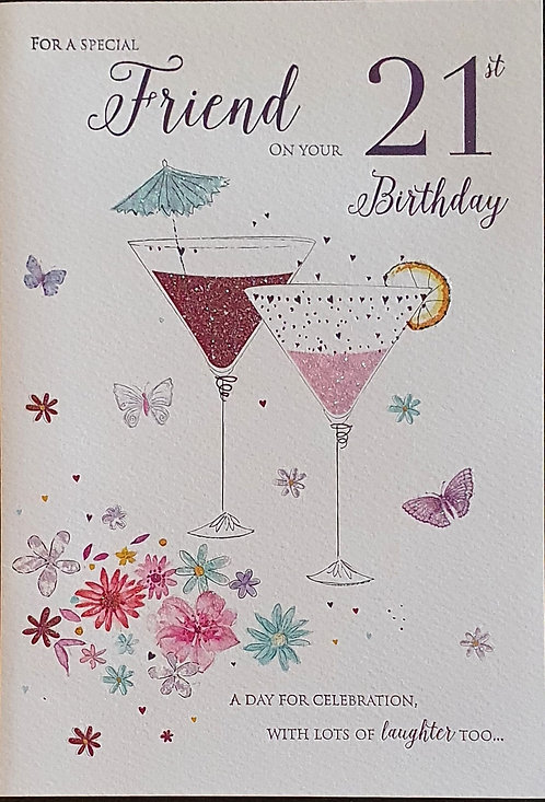 21st Female Friend Birthday Card