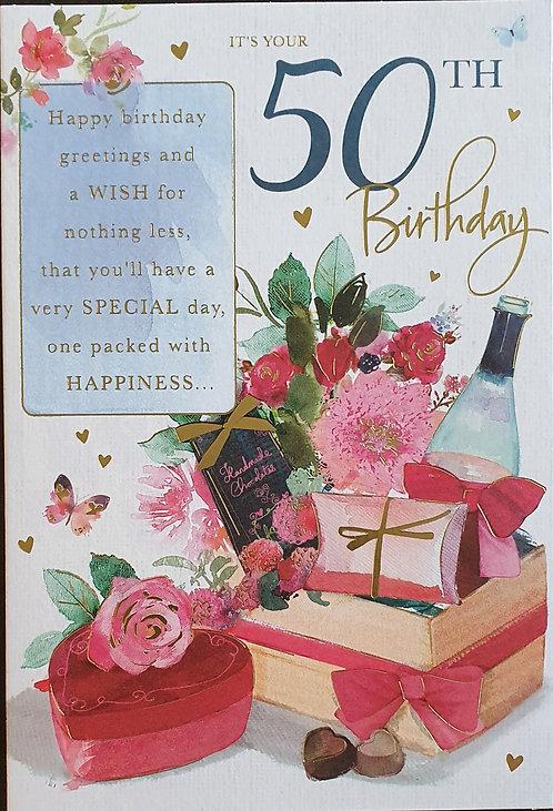 female 50th Birthday Card
