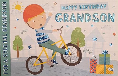 Juvenile Grandson Birthday Greeting Card