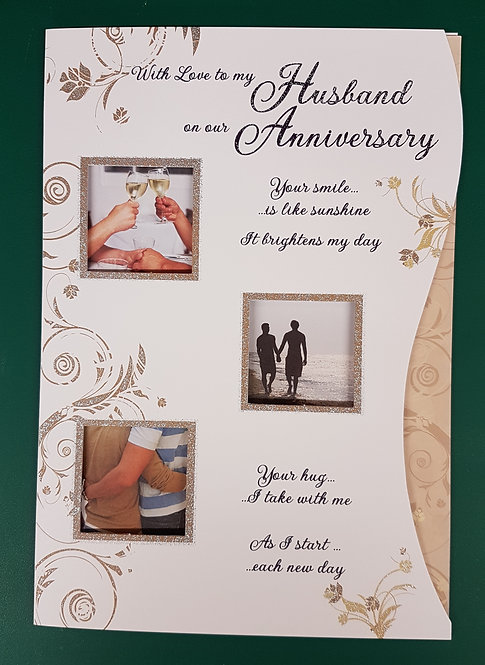 Our Anniversary Husband Greeting Card