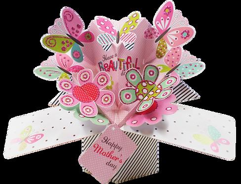 Pop Up Card - Mother's Day, Butterflies & Flowers