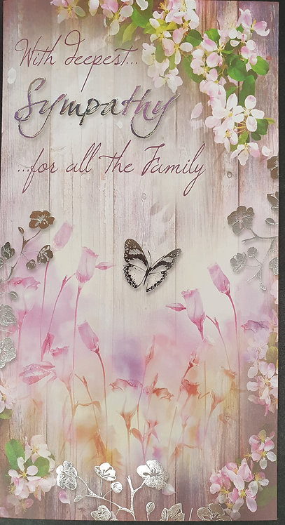 For All The Family Sympathy Greeting Card