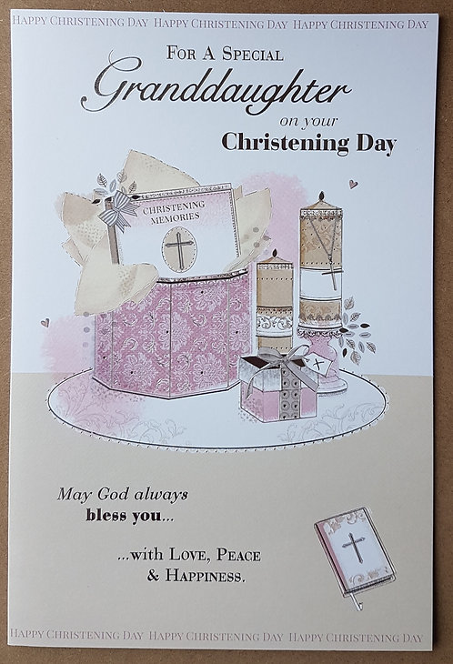 Christening Granddaughter - Greeting Card